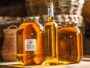 нерафинированное масло подсолнуха в таре