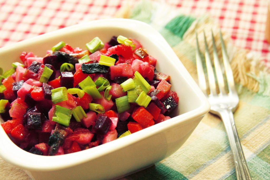 Калорийность винегрета овощного и салата оливье