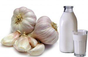 молоко и чеснок при повышенном давлении