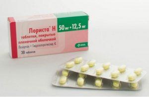Таблетки Лориста при гипертонии