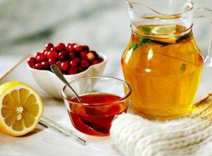 калина с медом и лимоном