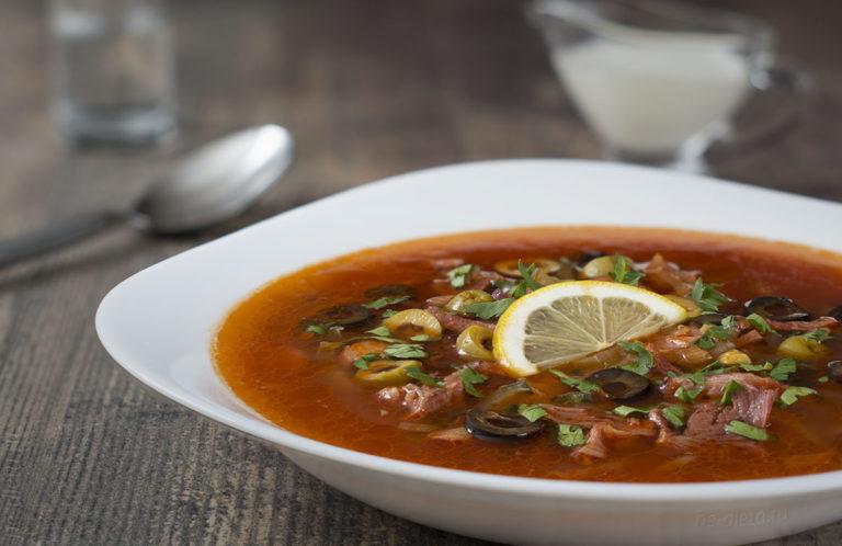 Солянка — калорийность состав и рецепт приготовления