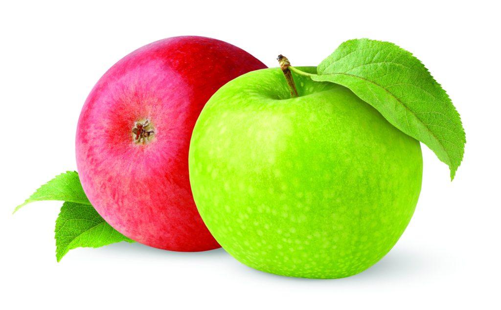 картинка яблок зеленых и красных тебя замечательным