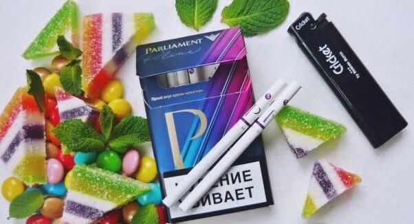 Сигареты Парламент с кнопкой